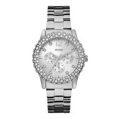 Guess W0335L1 Dazzler - Jam Tangan Wanita - Silver - Diamond - Krystal - Stainless Steel - Guess Watch