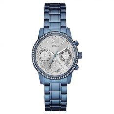 Guess W0623L4 Mini Sunrise - Jam Tangan Wanita - Blue - Diamond Kyrstal - Stainless Steel - Guess Watch
