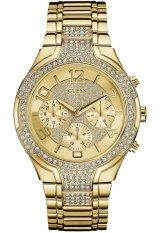 Guess W0628L2 Stellar - Jam Tangan Wanita - Gold - Diamond Kyrstal - Stainless Steel -