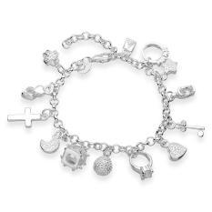 H144 Latest Women Classy Design Silver Plated Bracelet Factory Direct Sale - Intl