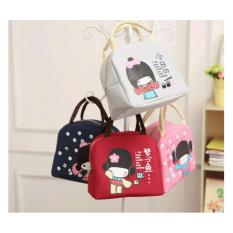 Hajimemashite^^ Motif Boneka Jepang Cooler Bag Lunch Bag