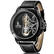 Hazyasm IK Apa Qi Large Dial Men Watch Fashion Personality Male Table Belt Dual Movement Watch 98308G (Black)