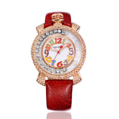 Hazyasm Sousou New Listing High-end Fashion Watch Colorful Digital Watch Watch Wholesale Manufacturers Supply (Red)