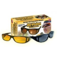Hd Vision Sunglass isi 2 PCS - Kacamata Hd Vision - HD vision Wrap Arounds