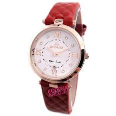 Hegner - H412L - Jam Tangan Wanita - Strap Kulit - Rose Merah