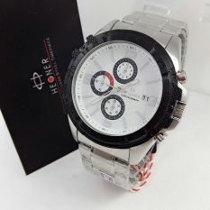 Hegner - Jam Tangan Formal Pria - Stainless Steel - HG 394 Silver White