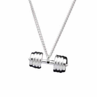 ... kebugaran pria pecinta perhiasan kalung baja Titanium halter barbel 4warnd 11 mm x Source TITANIUM HALTER