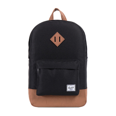 Herschel Heritage Mid-Volume Classic Backpack - Hitam-Tan Synthetic Leather