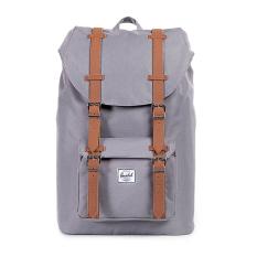 Herschel Little America Mid-Volume Classic Backpack - Abu-abu-Tan Synthetic Leather