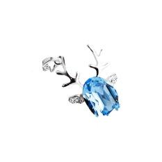 High-grade Crystal Pendant Pendant Necklace Fashion Ladies Temperament Jewelry - Christmas Reindeer - Intl