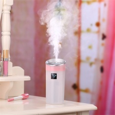 High Quality Car humidifier USB Aromatherapy diffuser essential oil diffuser air Ultrasonic humidifier air Aroma diffuser mist maker 300ML Pink - intl