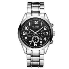 High Quality Men Fashion Casual Calendar Japanese Movement Watch (Black)