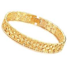 High Quality Men's 18K Gold Bracelet, Gold Bracelet Men's Luxury
