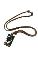 HKS Audio Headphones Leather Necklace Brown (Intl)