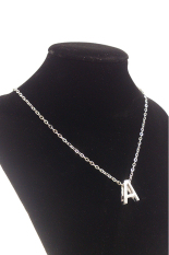 HKS DIY Letter A Pendant Necklace (Silver) (Intl)