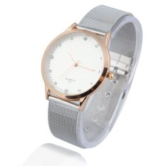 HKS Exquisite Men Analog Quartz Wrist Watch with Rhinestone Decor White Dial (Intl)