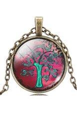 HKS Pendant Necklace Vintage Life Tree Glass Dome Cabochon IB1271 (Intl)