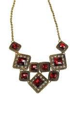 HKS Vintage Gemstone Pendant Chain Red (Intl)