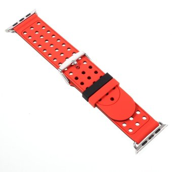 Hollow Dots Silicone Watchband Strap with Connector for 38mm Apple Watch Series 2 Series 1 -