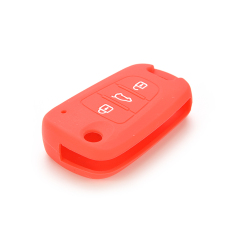 HomeGarden Car Key Case Cover Silicone For KIA Red (Intl)