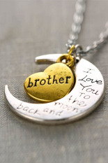 "HomeGarden Necklace Charm Pendant ""I LOVE YOU "" Brother (Intl)"