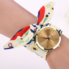Hot Fashion Casual Fabric Bracelet Wristwatch Women Top Quartz Watch NO.2 (Intl)