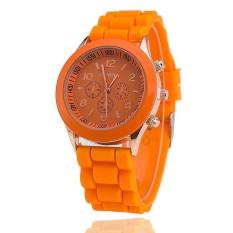 Hot Selling Silicone Geneva Watch Casual Quartz Women Wristwatch (Orange) (Intl)