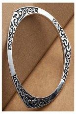 ILife NYKKOLA Fashion Silver Jewelry Beautiful 925 Style Classic Vintage Wave Bracelet Bangle Silver