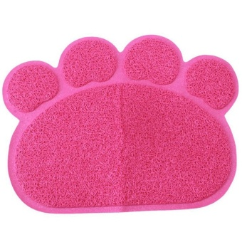Cute Paw Shape Pets Feet Mat Placemat PVC Radiating Dog Cats Sleeping Feeding Pads (Red) - Intl