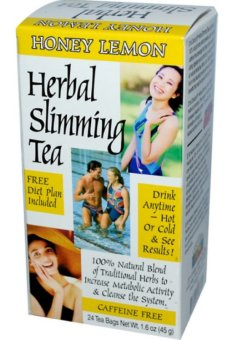 21st Century Health Care, Herbal Slimming Tea, Honey-Lemon, Caffeine Free