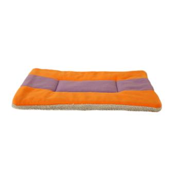 360DSC Super Soft Fleece Pet Bed Mats Puppy Dog Cat SleepingCushion Mat 76*59cm - Orange + Purple/XXL