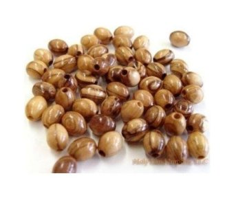 Olive Wood Oval Beads 9mm (100 beads). - intl