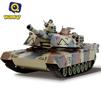harga HUANQI 781-10 M1A2 Simulation Infrared RC Battle Tank Toy(Army green) - intl Lazada.co.id