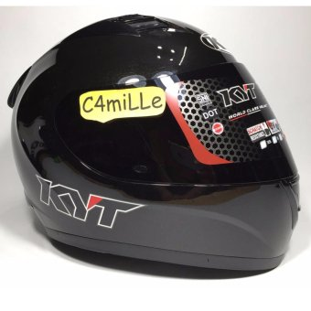 harga HELM KYT R10 R 10 SOLID BLACK FULL FACE Lazada.co.id