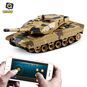 harga Huanqi No.H500 Bluetooth 2.0 RC Tank Gravity Sensor Shooting Simulated Panzer Toy - intl Lazada.co.id