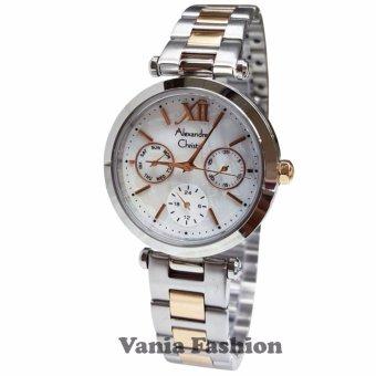 Harga Terbaru Alexandre Christie AC2498C Jam Tangan Wanita Stainless Steel Silver Lis Gold