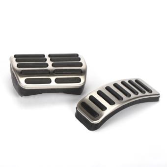 Stainless steel kopling pedal Gas pedal rem kopling pegas untuk Volkswagen VW Jetta Polo Jetta MK4