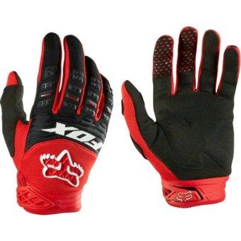 Fox Dirtpaw Sarung Tangan Sepeda Motor Touring Tour Bikers Bike Gloves Sports Outdoor Full Merah