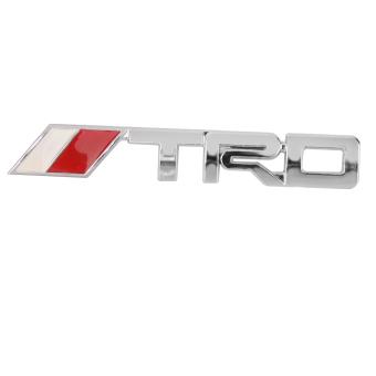 BolehDeals mobil 3D logam krom Perak TRD kisi-kisi grill depan lencana lambang untuk Toyota