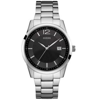 GUESS W0901G1 - Jam Tangan Pria - Stainless - Silver - Black. >>>>