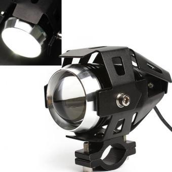 harga 125 watt 3000lmw Cree U5 memimpin mengemudi sepeda motor lampu lampu kabut (Hitam) Lazada.co.id