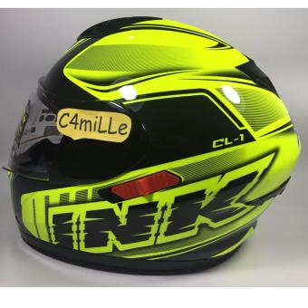 harga HELM INK CL1 SUPER FLUO 02 YELLOW FLUO BLACK DOUBLE VISOR FULL FACE Lazada.co.id