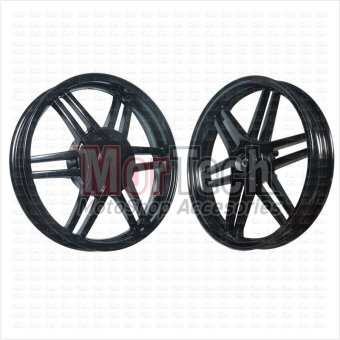 harga Ride It Velg Pelek Racing Tapak Lebar X Ride 115 cc Palang 6 Hitam 14-215 & 14-250 Lazada.co.id