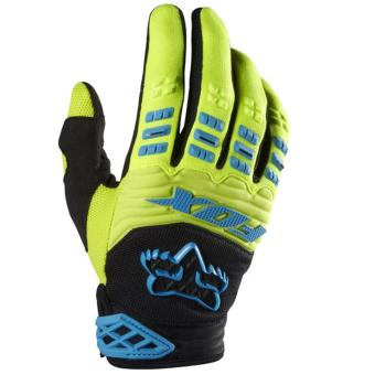Hijau - Fox Dirtpaw Sarung Tangan Sepeda Motor Touring Tour Bikers Bike Gloves Sports Outdoor Full Kuning