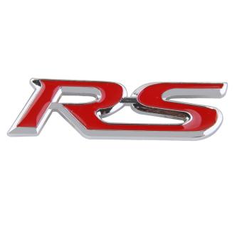 BolehDeals 3D RS kisi-kisi grill depan krom logam lencana lambang untuk Ford Focus dekorasi RS