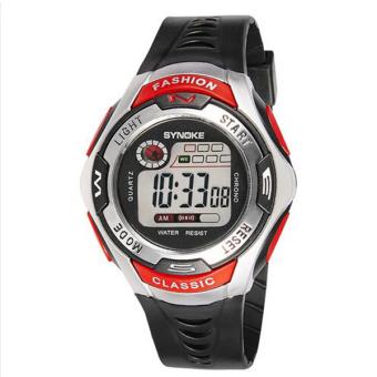 Synoke 99298 anak laki-laki dan gadis luar ruangan olahraga jam tangan kualitas tinggi Merah