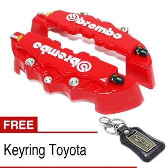 harga OTOmobil Cover Rem Cakram BREMBO Brake Small + Bonus Keyring Toyota Lazada.co.id