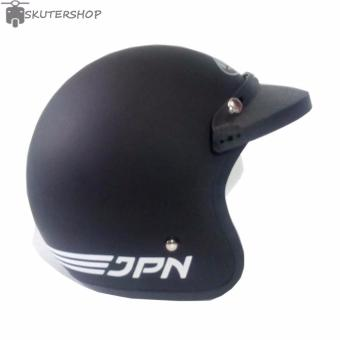 harga JPN Helm ARC Plus Pet Retro Klasik Jap Style Black Doff - Hitam Lazada.co.id