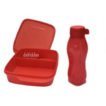 harga Tupperware Lunch Box set Glittery Eco Lolly 2pcs/set Lazada.co.id