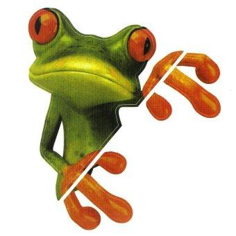 harga Bigskyie 3D Ci katak lucu stiker mobil kaca trukku stiker grafis stiker gratis pengiriman Lazada.co.id